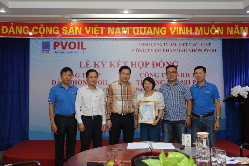Lễ ký kết Hợp đồng đại lý giữa Công ty Cổ Phần Dầu Nhờn PVOIL và Trường Thành Phú